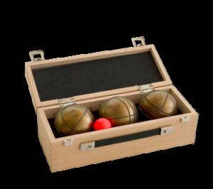 Coffret en bois 3 boules